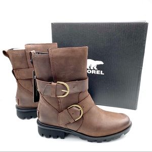 NWT Sorel Phoenix Moto Leather Waterproof Boots